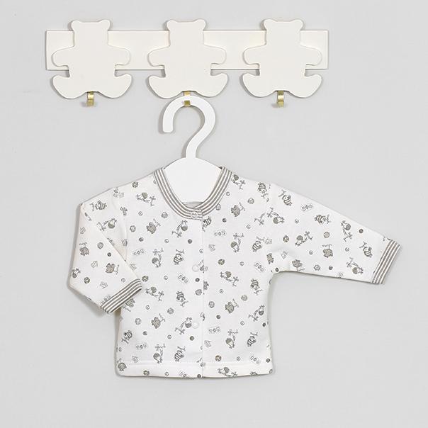 Šilti medvilniniai marškinėliai kūdikiams ilgomis rankovėmis VILAURITA Gee Zoo, 56 cm, 62 cm (227)
