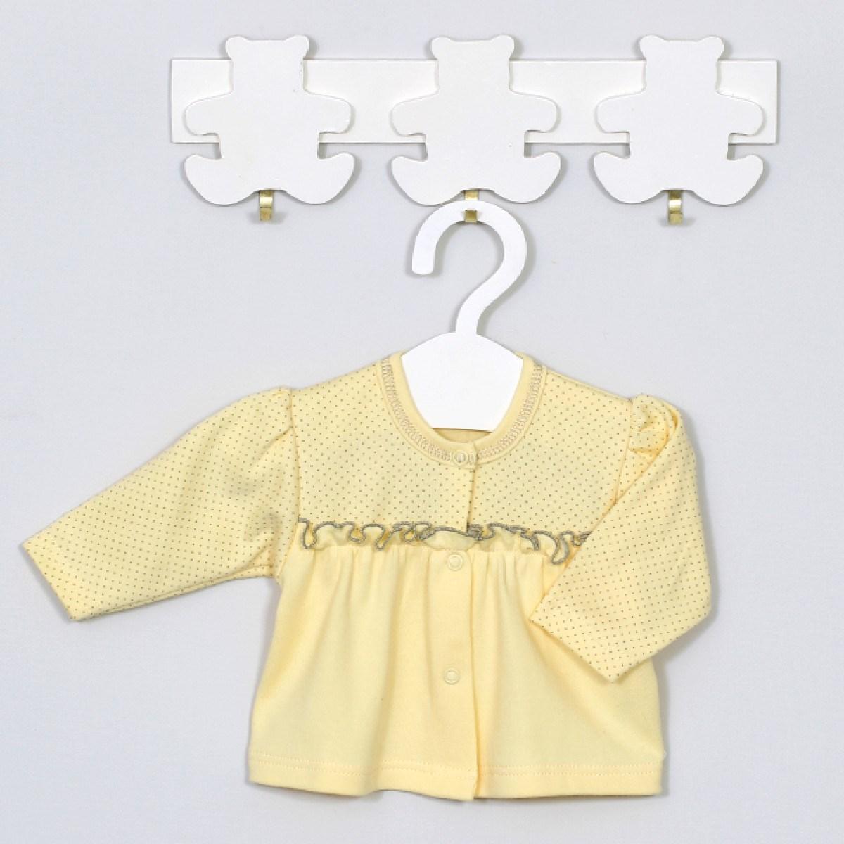 MEDVILNINIAI marškinėliai kūdikiams ILGOMIS RANKOVĖMIS, 56 cm, 62 cm, Luka, Vilaurita (336)