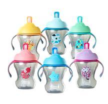 Mokomasis puodelis minkštu šiaudeliu ir rankenėlėmis TOMMEE TIPPEE Explora vaikams nuo 6 mėn., 230 ml (447015)