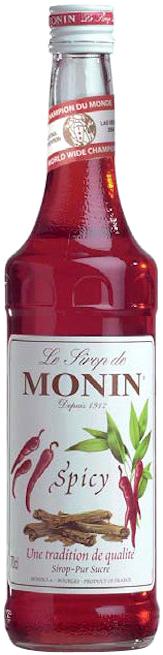 Monin AŠTRIŲ PRIESKONIŲ skonio sirupas, 700 ml