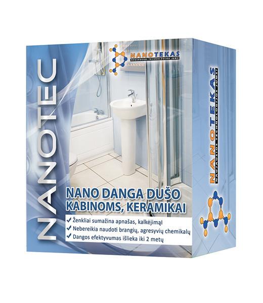 NANO DANGA apsauga nuo kalkių  dušo kabinoms, keramikai, 60/60 ml