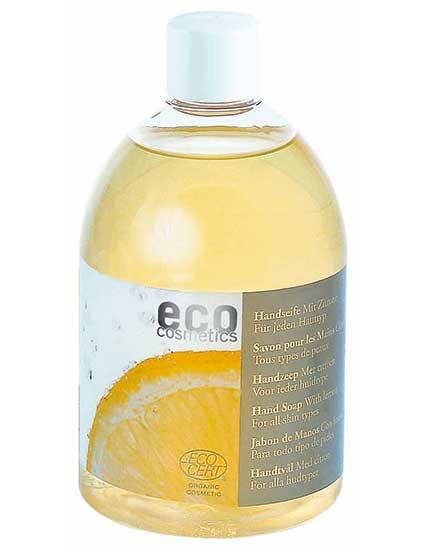 Naturalus muilas ECO COSMETICS su citrinų žievelių aliejumi 500ml
