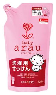 Natūralus skystas skalbiklis kūdikių rūbams, papildymas ARAU BABY, 720ml