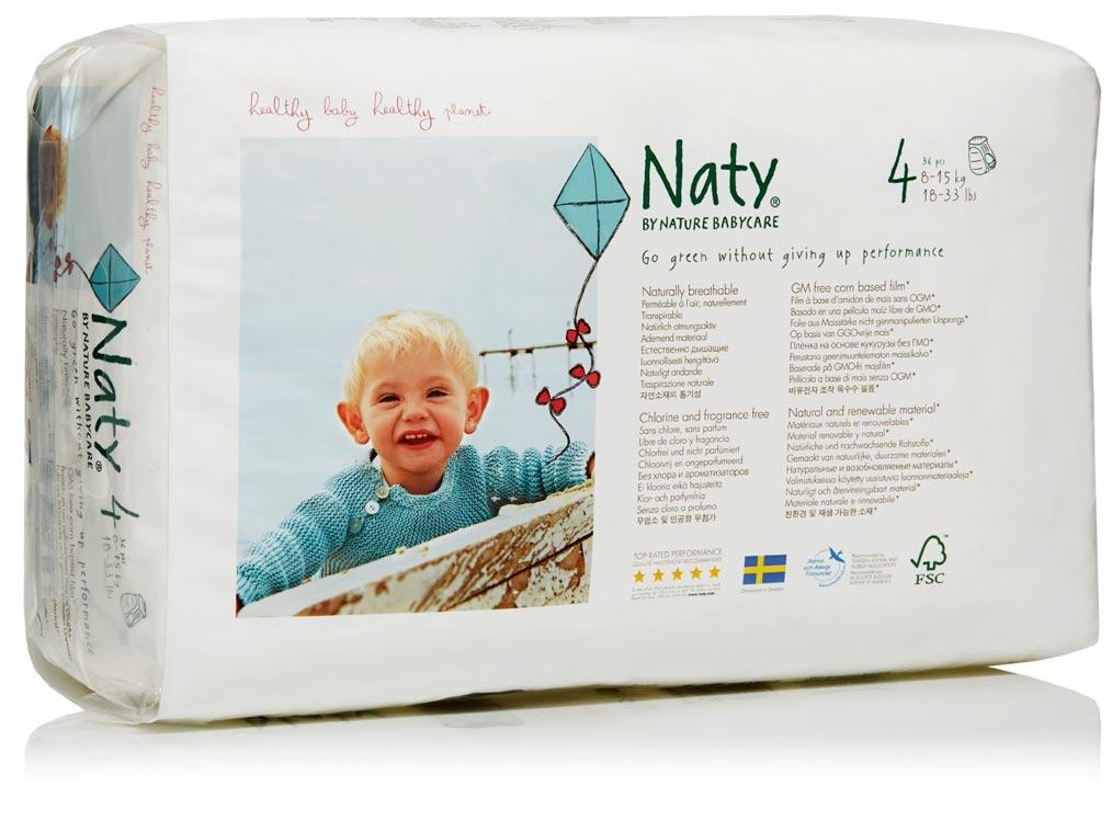 NATURE BABYCARE ekologiškos sauskelnės -kelnaitės, 4 Maxi (8-15 kg), 36vnt.
