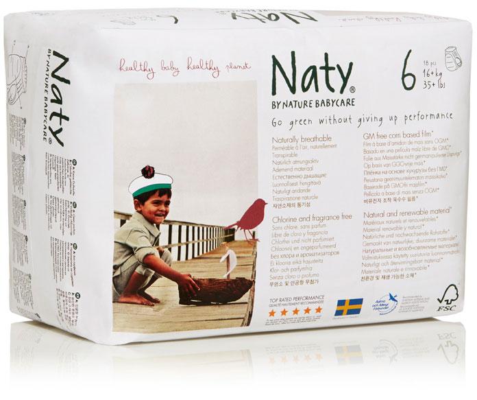 NATURE BABYCARE ekologiškos sauskelnės -kelnaitės, 6 Extra Large (16+ kg), 18vnt.