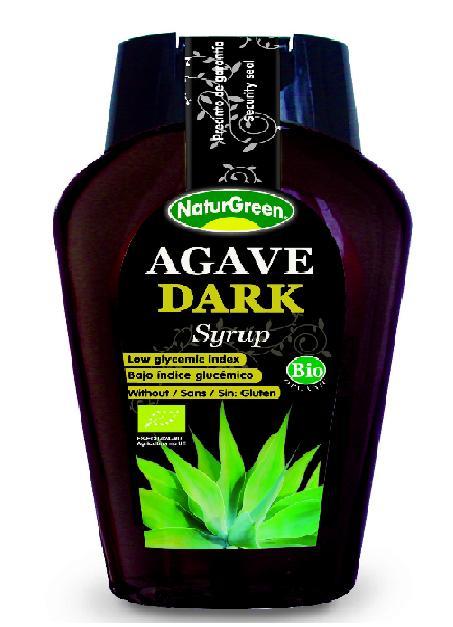 NATURGREEN tamsus agavų sirupas, ekologiškas 360ml