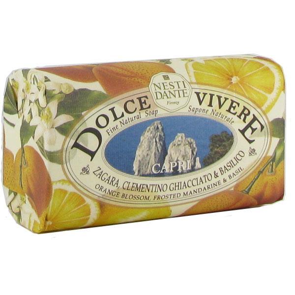 NESTI DANTE DOLCE VIVERE apelsino žiedų, mandarino sulčių ir baziliko muilas, 250g