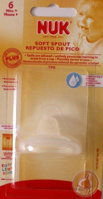 Mokomasis silikoninis snapelis plačiakakliams buteliukams ir mokomiesiems puodeliams nuo 6+ mėn., NUK First Choice, (10750408)