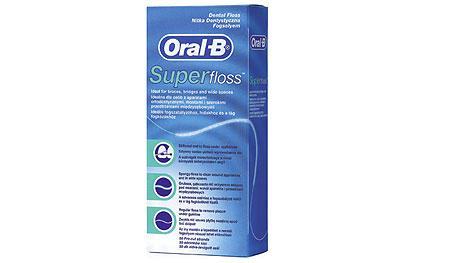 ORAL- B Super floss dantų siūlas pastorintu galu, 50vnt