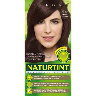 Plaukų dažai ilgalaikiai BE AMONIAKO 4.32 sodriai kaštoninė Naturtint Naturally Better, 165 ml