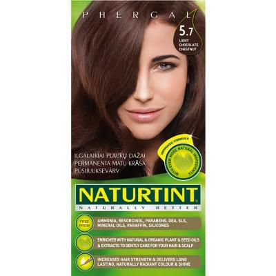 Plaukų dažai ilgalaikiai BE AMONIAKO 5.7 šviesaus šokolado kaštoninė Naturtint Naturally Better , 165 ml