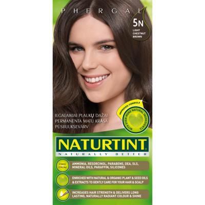 Plaukų dažai ilgalaikiai BE AMONIAKO 5N šviesi kaštoninė Naturtint Naturally Better, 165 ml