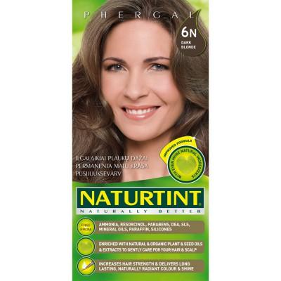 Plaukų dažai ilgalaikiai BE AMONIAKO 6N patamsinta Naturtint Naturally Better, 165 ml