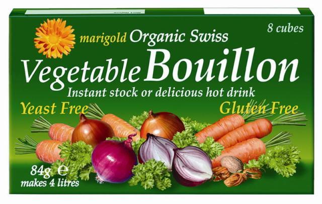 MARIGOLD ekologiškas šveicariškas daržovių sultinys kubeliais be mielių (ŽALIAS), 84g