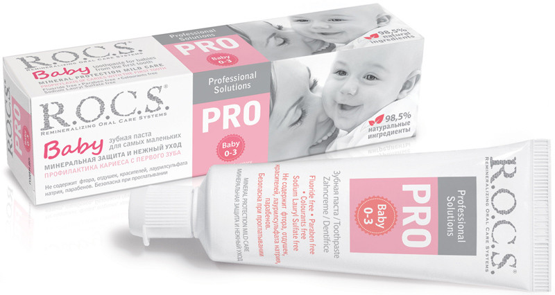 R.O.C.S PRO Baby dantų pasta kūdikiams nuo 0-3 metų