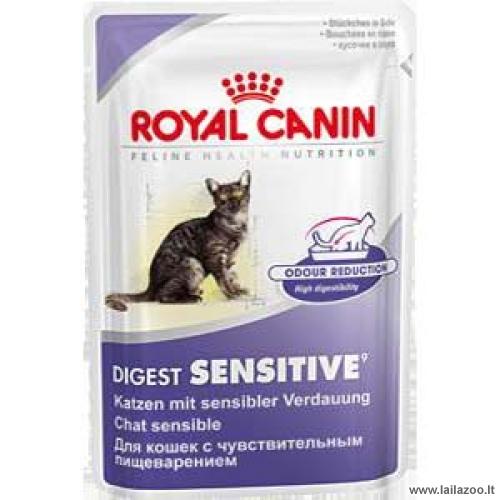 ROYAL CANIN Digest Sensitive gabalėliai padaže suaugusioms, vienerių metų ir vyresnėms, katėms, turinčioms jautrią virškinimo sistemą, 85g