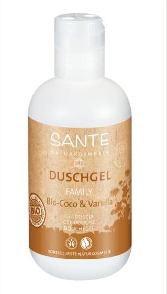 SANTE dušo žėlė su ekologiškais kokosais ir vanile, 200ml