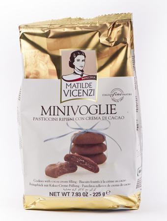 Sausainiai su kakavos kremo įdaru MATILDE VICENZI, 225g