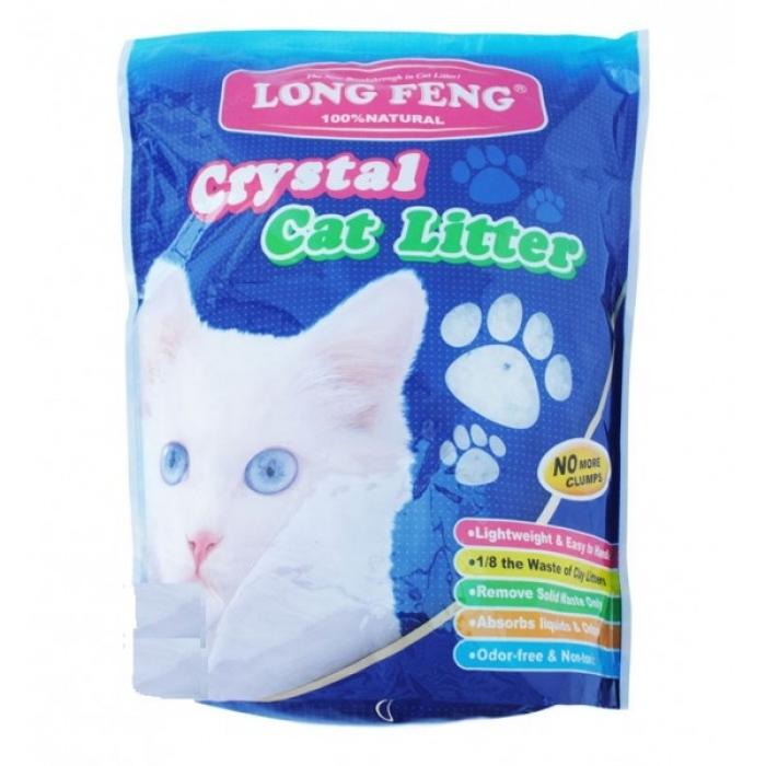 Silikoninis nedulkantis kraikas katėms Long Feng 3.8 l