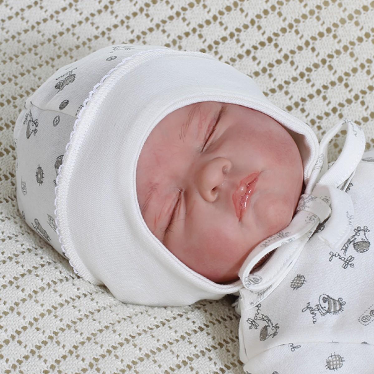 Šilta MEDVILNINĖ kepuraitė kūdikiui, 40, 44 cm, Gee Zoo, Vilaurita (232)