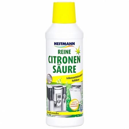 Skysta citrinos rūgštis,  kalkių valiklis buitiniams  prietaisams  Heitmann, 500 ml