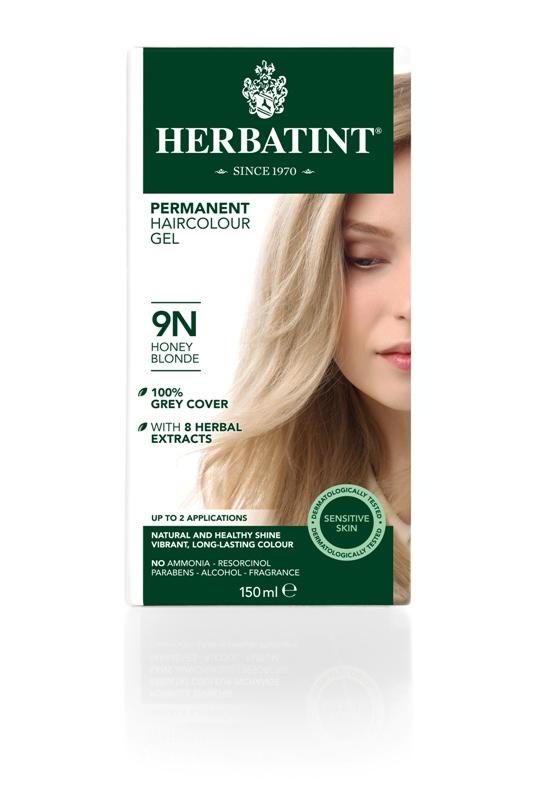 Plaukų dažai SU EKOLOGIŠKAIS EKSTRAKTAIS be amoniako Herbatint 9N medaus blondinė, 150 ml