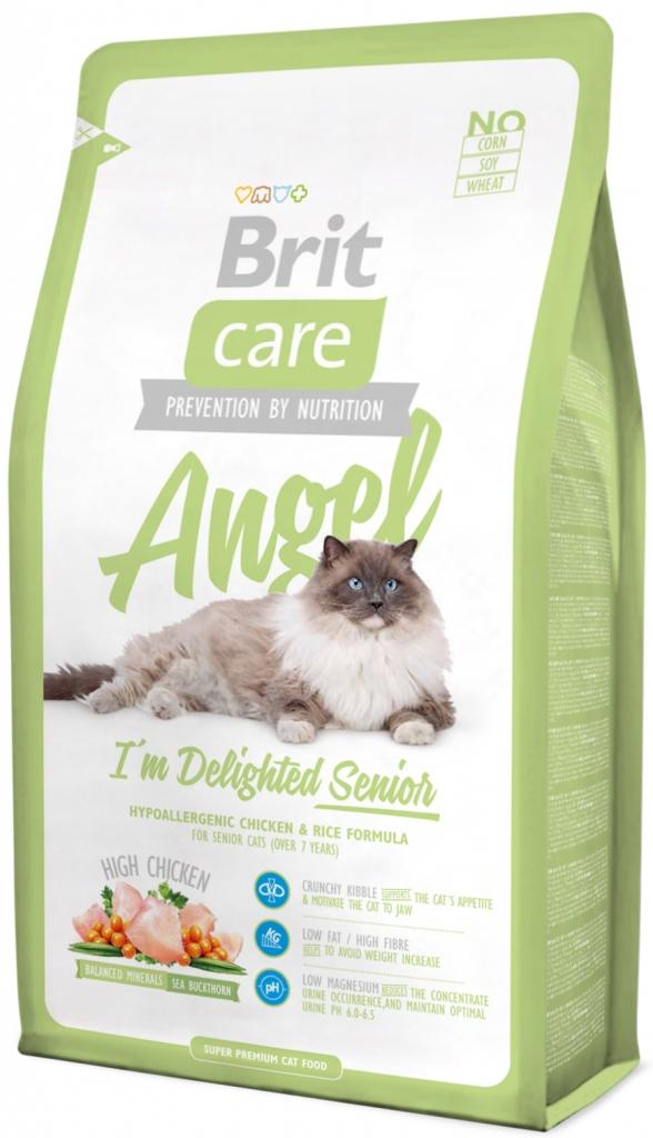 Super Premium klasės kačių katėms nuo 7 metų BRIT CARE Cat Angel I´m Delighted Senior, 2kg