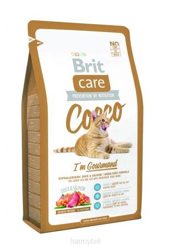 Super Premium klasės kačių maistas išrankioms katėms Brit Care Cat Cocco I'm Gourmand, 0.4g