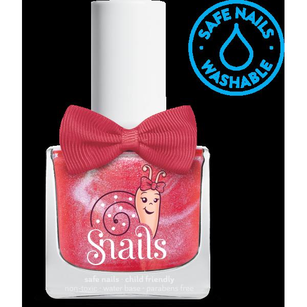 Nuplaunamas vandeniu nagų lakas Disko mergaitė vaikams nuo 3 m. SNAILS, 10,5 ml