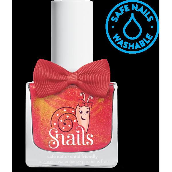 Nuplaunamas vandeniu nagų lakas Imbierinis meduolis vaikams nuo 3 m. SNAILS, 10,5 ml