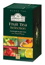 Juodosios arbatos rinkinys su vaisių gabaliukais AHMAD TEA FRUIT TEA SELECTION, 20*2g