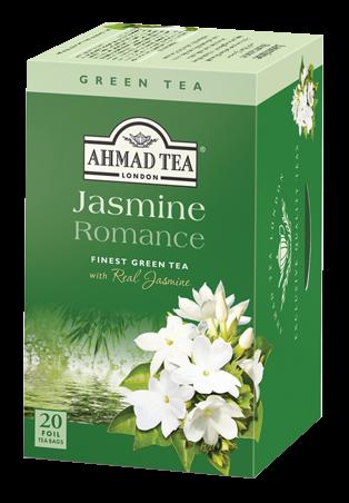 Žalioji arbata su jazminų žiedaisAHMAD TEA JASMINE ROMANCE, 20*2g