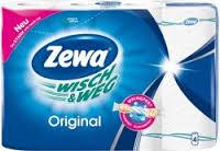 ZEWA Wisch&Weg popieriniai rankšluosčiai, 4 ritinėliai
