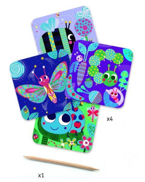 Įtrinami paveikslėliai DJECO Bugs (DJ09092) 2