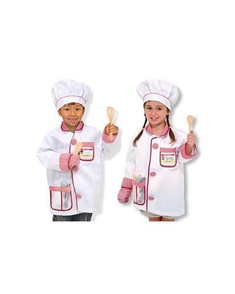 Virtuvės šefo kostiumas ir aksesuarai MELISSA & DOUG, 1 vnt. 2