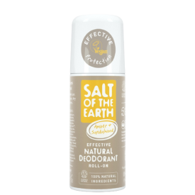 Natūralus rutulinis dezodorantas SALT OF THE EARTH su gintaru ir santalu, 75 ml