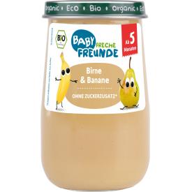 Ekologiška tyrelė FRECHE FREUNDE su kriaušėmis ir bananais, nuo 5 mėn., 190g, stiklas