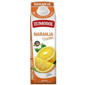 Apelsinų sultys su minkštimu ZUMOSOL 100%, 1L