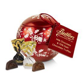 Šokoladinių saldainių rinkinys-dekoracija BUTLERS raudonas varpelis, 150 g