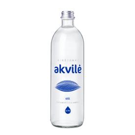 NEGAZUOTAS natūralus mineralinis vanduo Akvilė, stiklinėje taroje,750ml