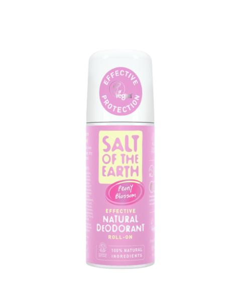 Natūralus rutulinis dezodorantas SALT OF THE EARTH su bijūnų žiedais, 75 ml
