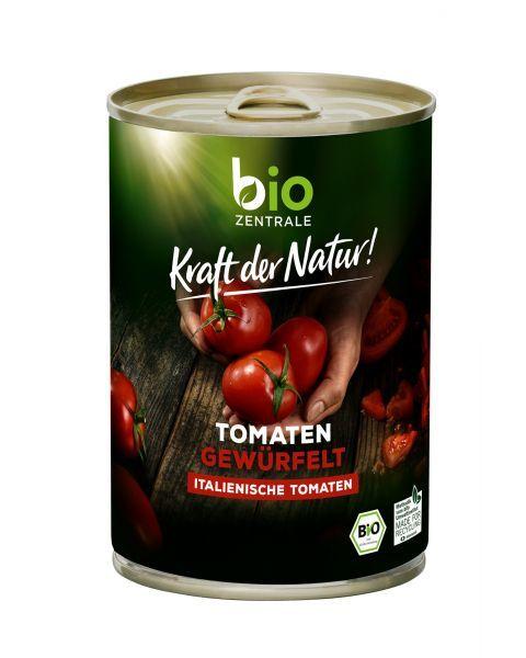 Ekologiški pjaustyti pomidorai savo sultyse BIOZENTRALE, 400 g