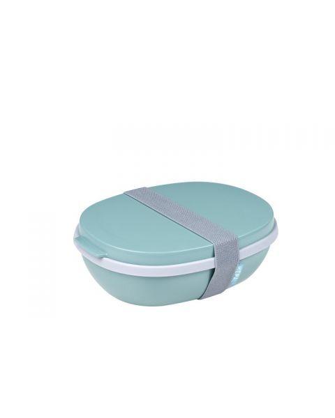 Maisto dėžutė su skyreliais MEPAL Ellipse žalsva, 1 vnt.