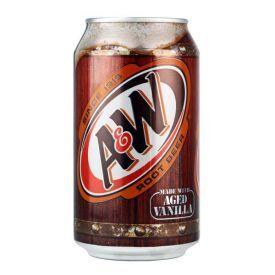 Nealkoholinis gazuotas Sasafro šaknų gaivusis gėrimas A&W ROOT BEER, 355ml
