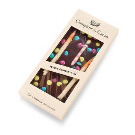 """Juodasis šokoladas COMPTOIR du CACAO, """"su gimtadieniu"""", 90 g"""