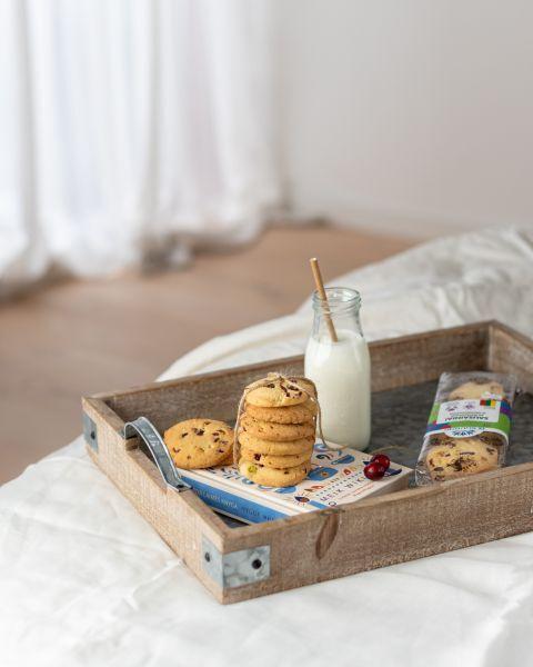 Sausainiai su pistacijomis ir spanguolėmis, be gliuteno, 160g 2