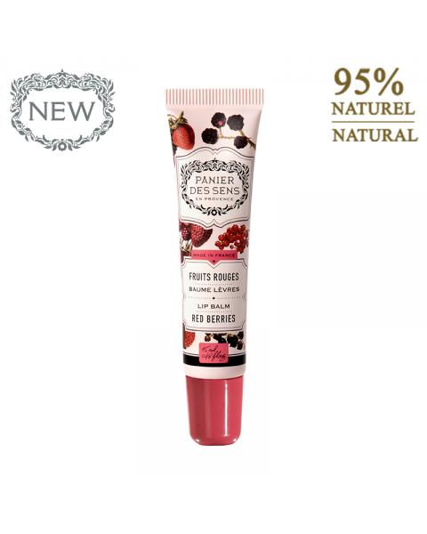 Lūpų balzamas PANIER DES SENS Red Berries su raudonosiomis uogomis, 15 ml