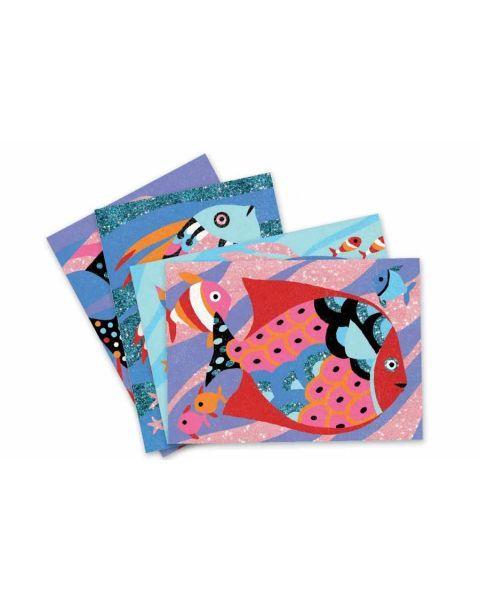 Rinkinys piešimui spalvotu smėliu DJECO Žuvų Vaivorykštė 6-11 metų vaikams (DJ08661) 4