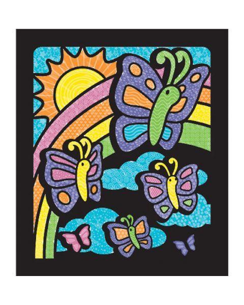 "Aksominė spalvinimo knygelė MELISSA & DOUG ""Butterfly"", 1 vnt. 3"