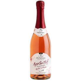 APPLERITIF ekologiškas nealkoholinis putojantis obuolių ir rožių vynas, 750ml